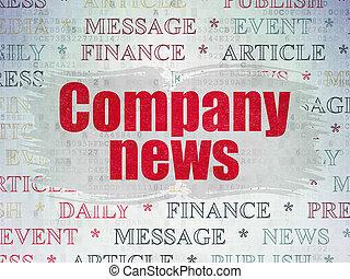 papier, concept:, compagnie, fond, numérique, nouvelles, données