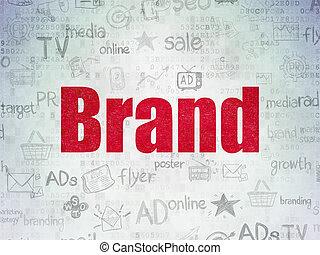 papier, concept:, fond, numérique, marque, commercialisation, données