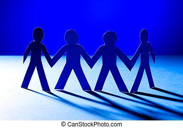 papier, concept, gens, teamworking