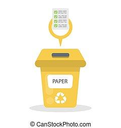 papier, container., déchets