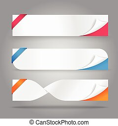 papier couleur, gabarit, vide, coin, bannière