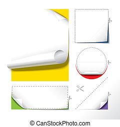 papier, coupé