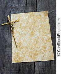 papier, crucifix