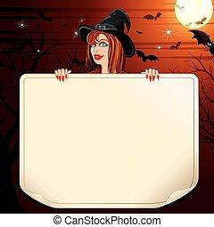 papier, czarownica, woluta