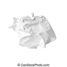papier, déchets ménagers, chiffonné, balle, erreur, déchets
