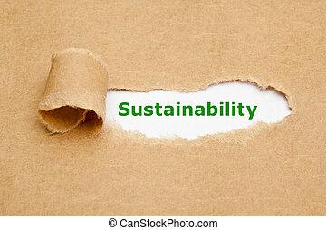 papier déchiré, concept, durabilité