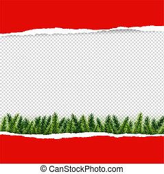 papier déchiré, firtree, rouges