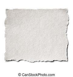 papier déchiré, isolé