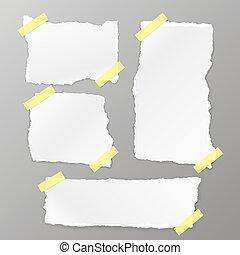 papier déchiré, placer place
