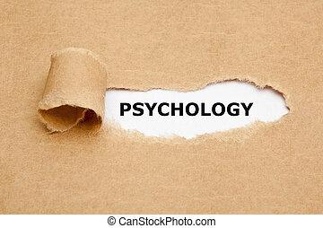 papier déchiré, psychologie, concept