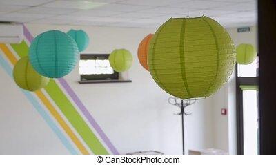 papier, décoration, lanternes