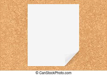 papier deska, korek
