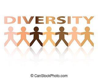 papier, diversité, gens