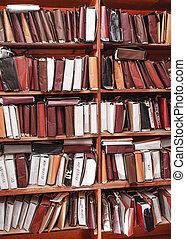 papier, dokumente, gestapelt, in, archiv