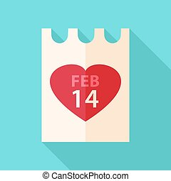 papier, dzień, valentine