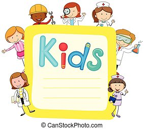 papier, dzieciaki, projektować, okupacje