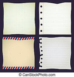 papier, ensemble