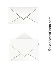 papier, enveloppe, icônes