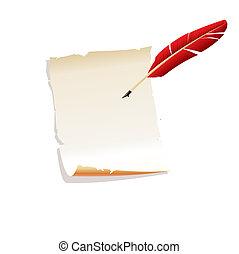 papier, feather.vector