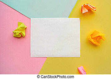 papier, feuille, arrière-plan coloré