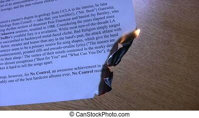 papier, flamme