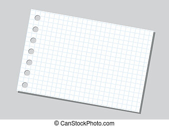 papier, fond, cahier