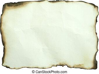 papier, gebrande