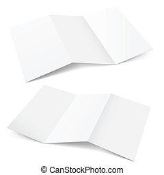 papier, gefaltet