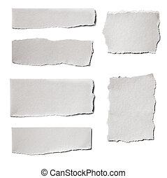 papier, gehuil, verzameling