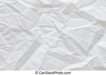 papier, gekreukeld, perkament