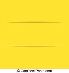 papier, gele, etiket