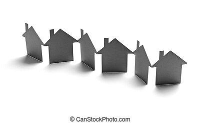 papier, gmach, dom, stan, dom, prawdziwy