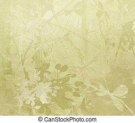 papier, grens, bloem, kunst, achtergrond
