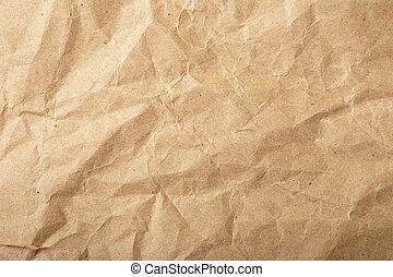 papier, grunge, zerquetscht, hintergrund