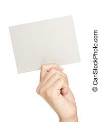 papier, handgebaren, het tonen