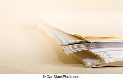 papier, haufen