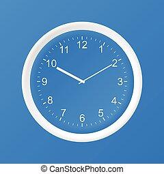 papier, horloge, icône, 3d