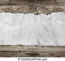 papier, hout, oud, achtergrond