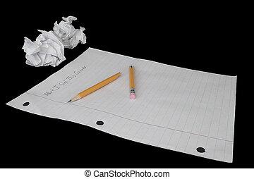 papier, huiswerk, zomer