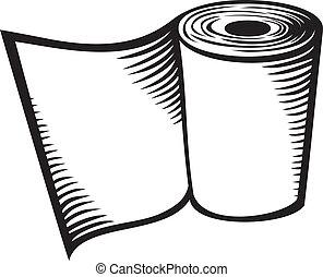 papier hygiénique, rouleau