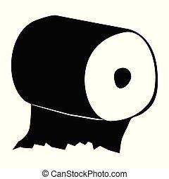 papier hygiénique, silhouette