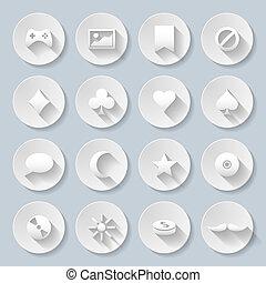 papier, icônes