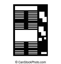 papier, isolé, icône