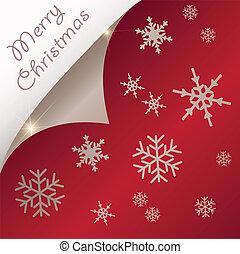 papier, kerstmis, gekrulde