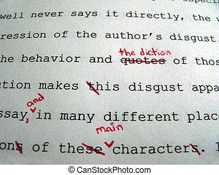 papier, korrekturen