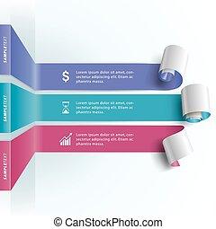 papier, krul, infographic