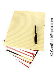 papier, książki, stóg, litera