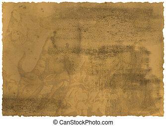 papier, lambeaux, bord, vieux, textured