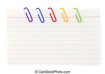 papier lettres, agrafe, papier, coloré