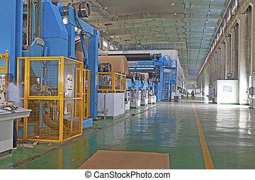 papier, ligne, production, entreprise